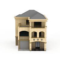欧式三层小别墅3d模型