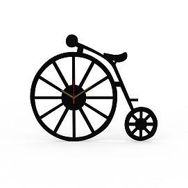 创意黑色<font class='myIsRed'>自行车</font>造型桌表3d模型