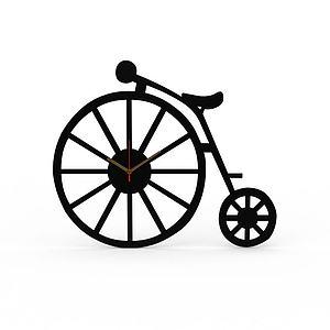 创意黑色自行车造型桌表模型3d模型