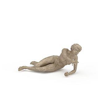 艺术雕塑人物3d模型