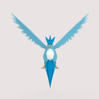 动漫角色Articuno口袋妖怪Pokemon GO3d模型