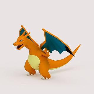 Charizard口袋妖怪3D模型