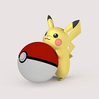 动漫角色Pikachu口袋妖怪Pokemon GO3D模型