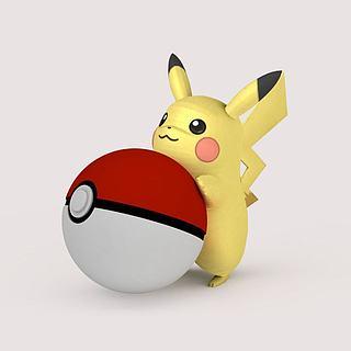 Pikachu口袋妖怪3d模型