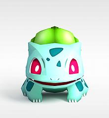 Bulbasaur口袋妖怪模型3d模型