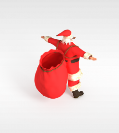 3d<font class='myIsRed'>圣诞</font>老人模型