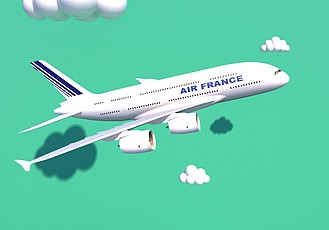 C4D航空飞机客机模型