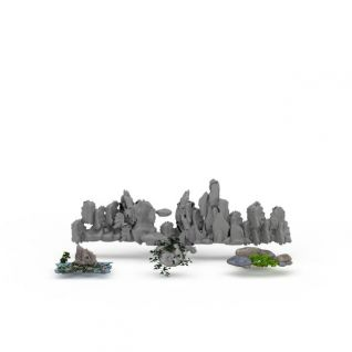 园林假山石头3d模型