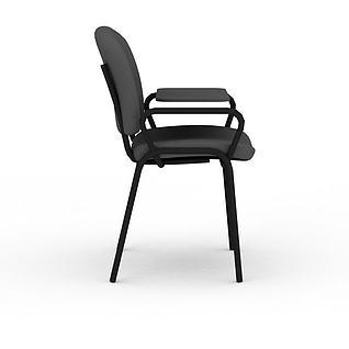 黑色办公椅3d模型
