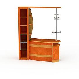 现代酒柜隔断3d模型