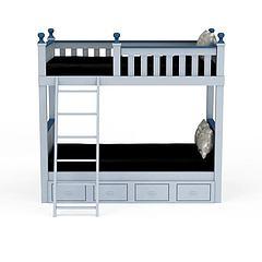 儿童床,上下床模型3d模型