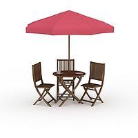 户外遮阳伞座椅3d模型