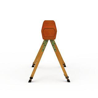 鞍马3d模型