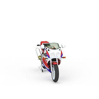 炫酷摩托赛车3d模型