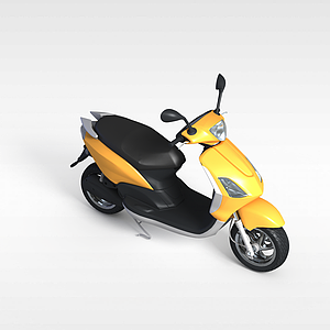 黄色电动摩托车模型