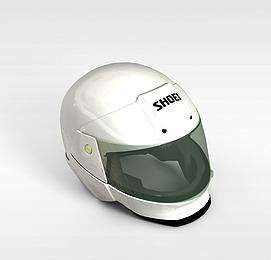 赛车运动头盔模型