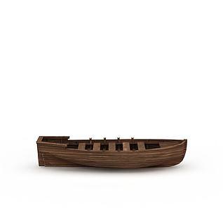 小木船3d模型