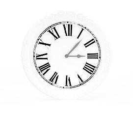3d罗马数字挂钟模型
