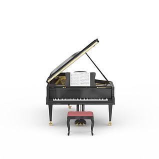 高级钢琴3d模型
