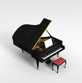 高级钢琴模型