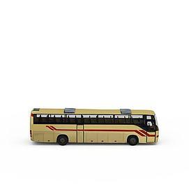 黄色大巴车3d模型