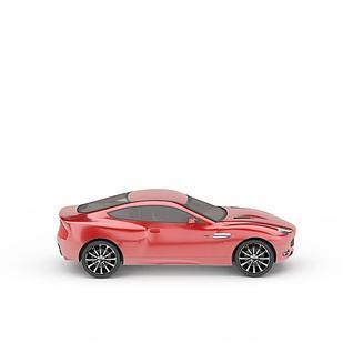 炫酷红色跑车3d模型