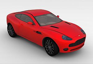 3d炫酷紅色<font class='myIsRed'>跑車</font>模型
