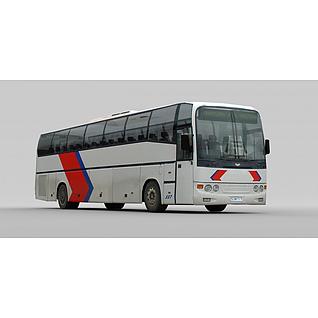 大巴车3d模型
