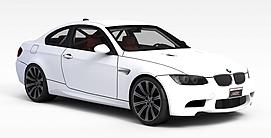 白色小轿车3d模型