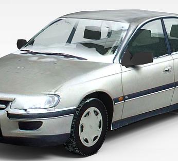 灰色小轿车