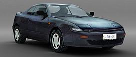 黑色小轿车3d模型