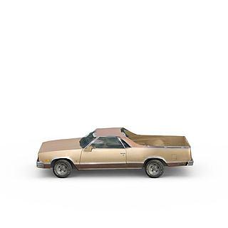 老式皮卡车3d模型