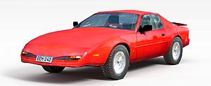 3d红色两门<font class='myIsRed'>跑车</font>模型