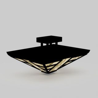 黑色中式吸顶灯3d模型