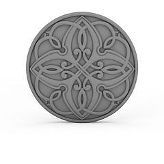 圆形雕花石膏模型3d模型