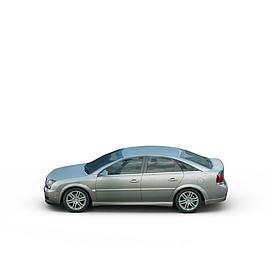 银色家用小轿车3d模型
