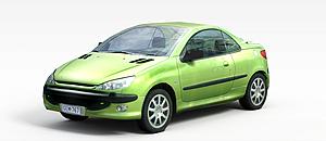 3d绿色节能<font class='myIsRed'>小汽车</font>模型