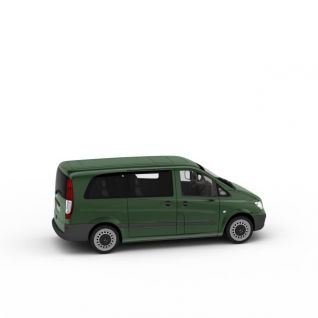 绿皮面包车3d模型3d模型