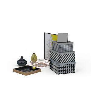 3d桌面花瓶饰品模型