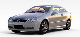 家用灰色小轿车3d模型
