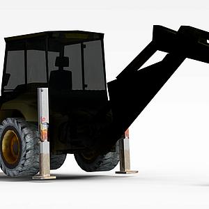 挖掘推土一體機模型3d模型