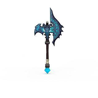 游戏武器战斧3d模型
