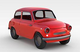 红色小<font class='myIsRed'>汽车</font>3d模型