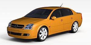3d现代姜黄色<font class='myIsRed'>小汽车</font>模型
