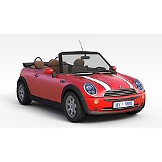 红色minicooper小轿车3D模型3d模型