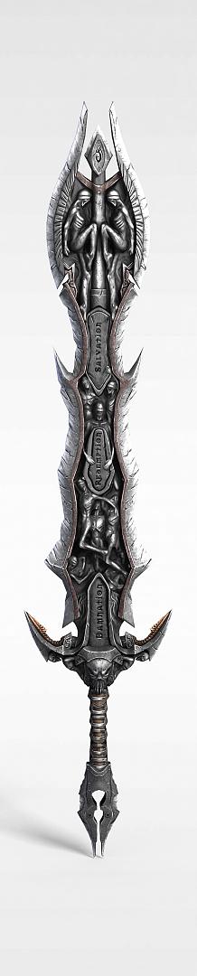 武士金属宝剑模型