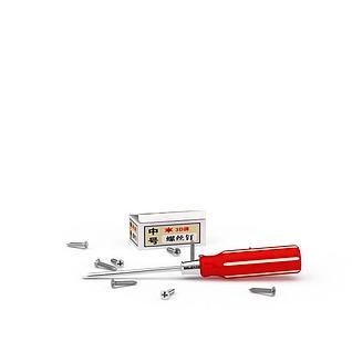 红白拼色螺丝刀3d模型