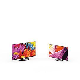 现代液晶电视3d模型