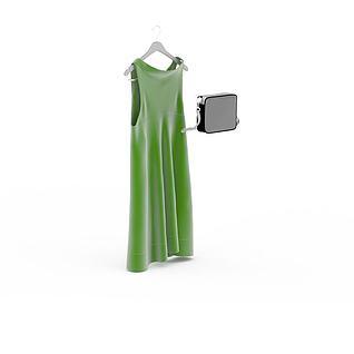 绿色连衣裙3d模型