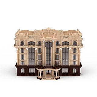 欧式办公建筑楼3d模型